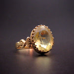 18 Karat Gold & Fluorite Stone Antique Ring