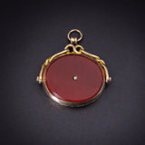 Deep Red Carnelian Gentleman's Spinner Fob