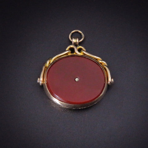 Deep Red Carnelian Gentleman's Fob