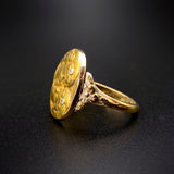 Antique Art Nouveau 14K & Diamond Conversion Ring