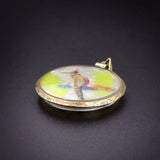 Edwardian Double Sided Bird Pendant/Locket