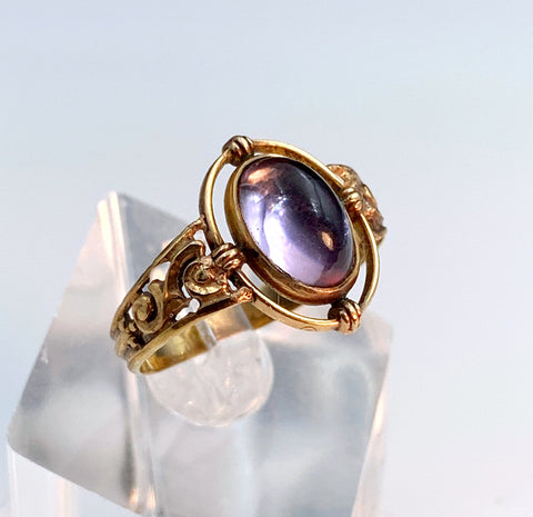 10K 14K Amethyst Conversion Ring