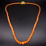 Antique Gold-Filled Coral Bead Necklace