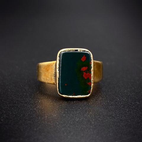 Antique 18K & Bloodstone Ring