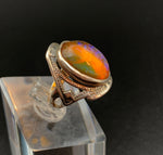 Antique Silver & Dragon's Breath Ring