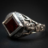 Sterling Silver Egyptian Revival Temple Ring (Custom Order)