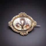 French Late 19th Century Hair Brooch with Fleur-de-Lis Design