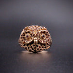 14K Rose Gold, 9 Karat Rose Gold & Garnet Owl Conversion Ring