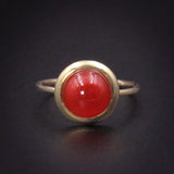 18K Carnelian Conversion Ring