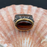 Stephen Webster Sterling Silver, 18K Gold & Tiger's Eye Gargoyle Ring