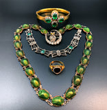 Victorian Real Irridescent Scarabs Egyptian Revival Necklace