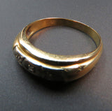 14k Gold and Diamond Men's Ring