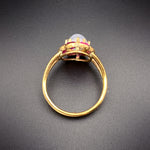 Vintage18K, 14K, Star Sapphire & Ruby Conversion Ring