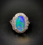 Outstanding Opal Diamond & Platinum Ring (SOLD)
