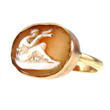 Carved Shell Cameo 14k Gold Conversion Ring