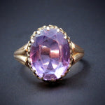 14 Karat Gold & Rose-de-France Amethyst Antique Ring