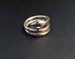 Coven-Created Victorian Inspired Sterling Snake Ring With Ruby Eyes
