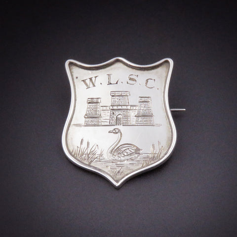 Unique Silver 1921 W.L.S.C. 1st Place Pin