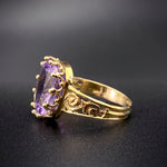 18K, 14K & Amethyst Conversion Ring