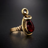 14K & Garnet Conversion Ring