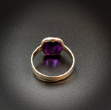 14K White Gold Amethyst Conversion Ring