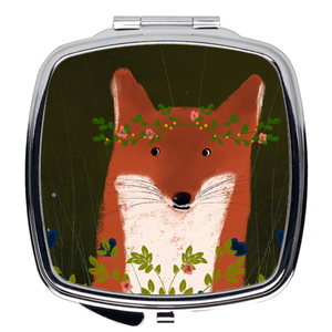 """Little Fox"" Pocket Mirror"