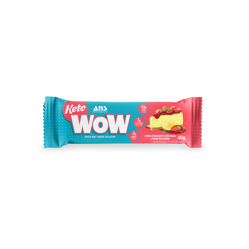 Keto Wow Snack Bar | Lemon Strawberry Cheesecake (1 bar, 40G)