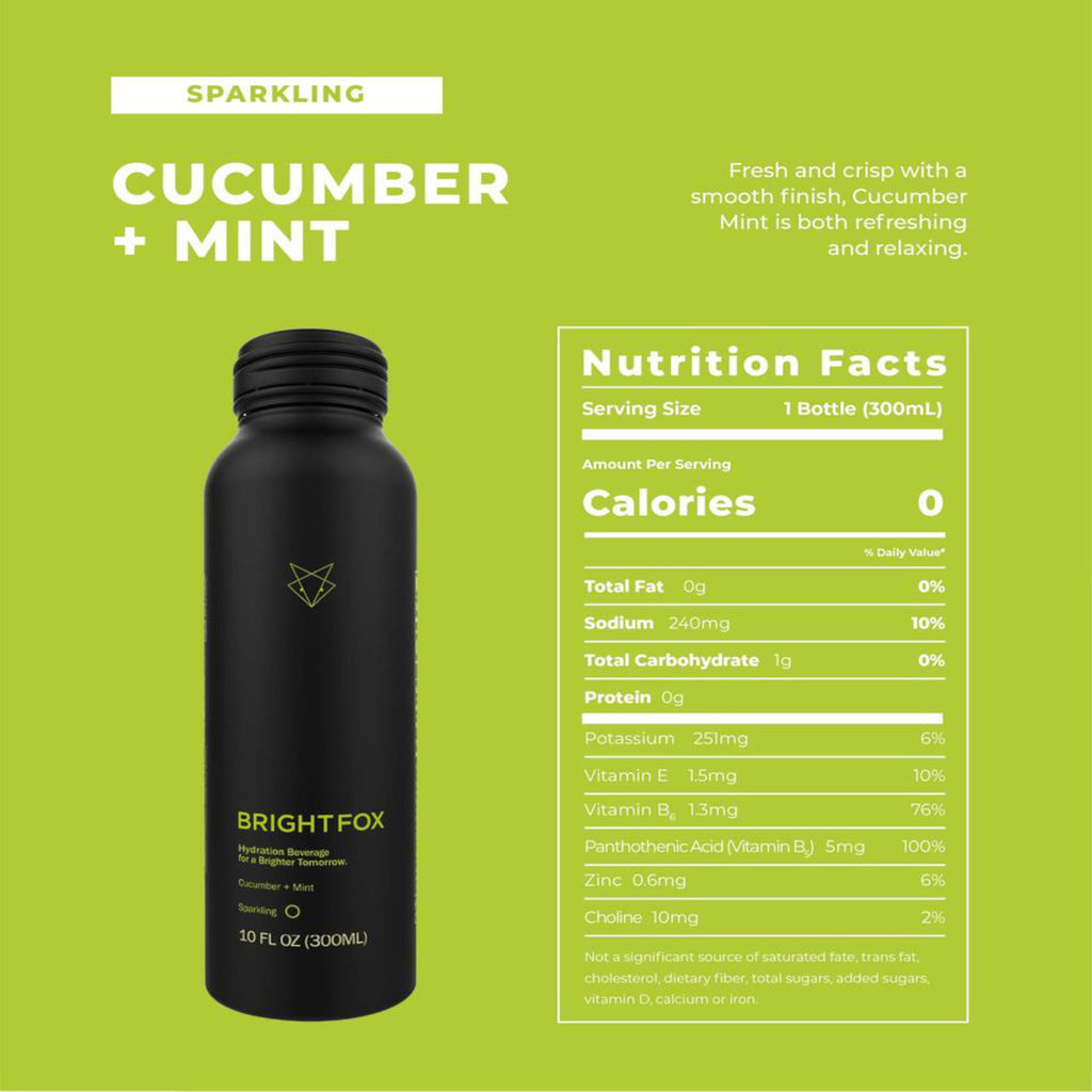 BrightFox | Cucumber Mint Sparkling Water, 300ml