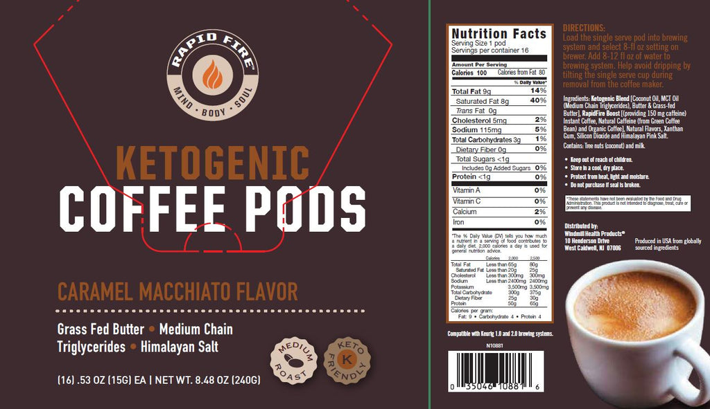 Rapid Fire Ketogenic Coffee Pods