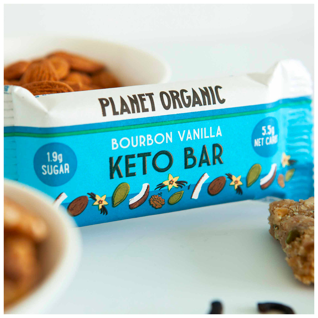 Planet Organic Keto Bar | Bourbon Vanilla 40g