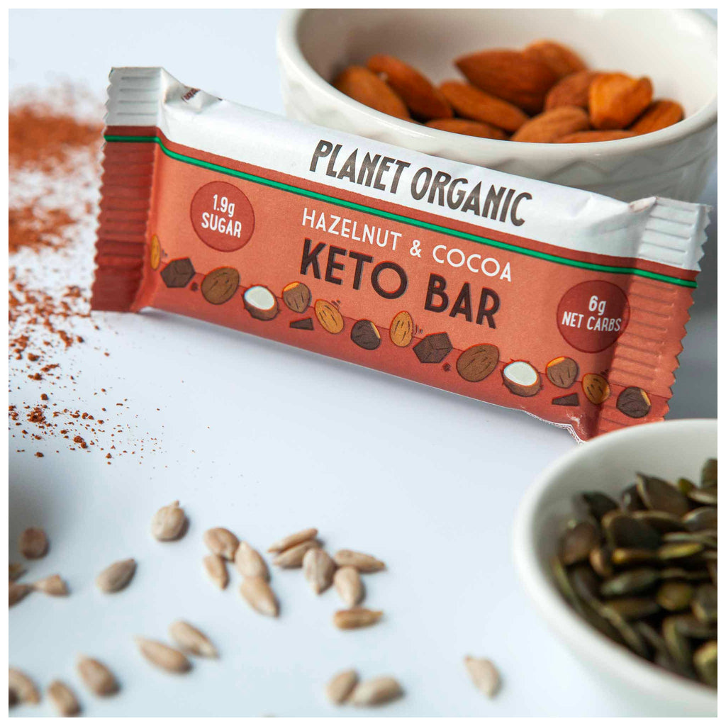 Planet Organic Keto Bar | Hazelnut & Cocoa 40g