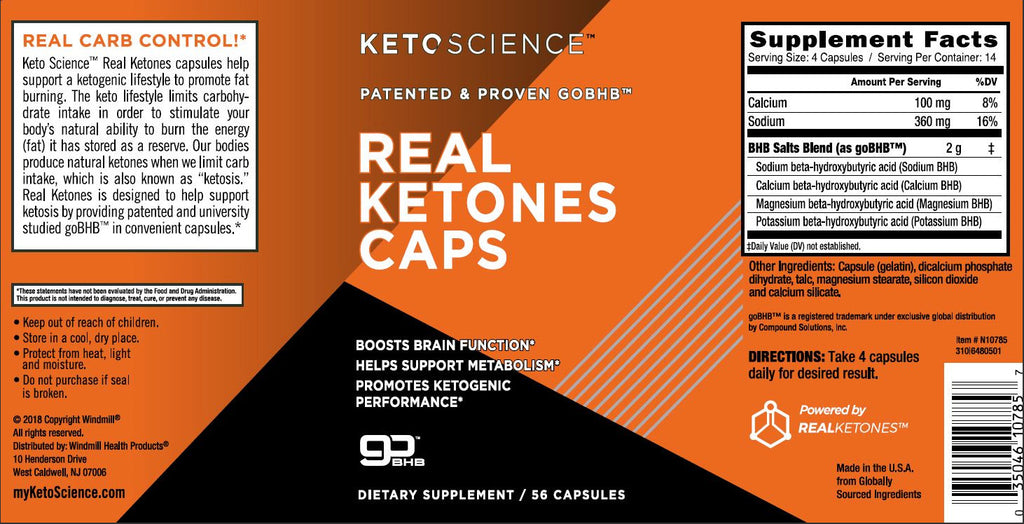 KETO SCIENCE - Real Ketones Caps