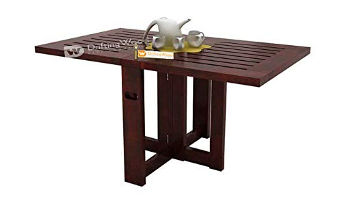 DriftingWood Sheesham Wood Astin Folding Center Coffee Table for Living Room | Dining Table | Mahogany Finish