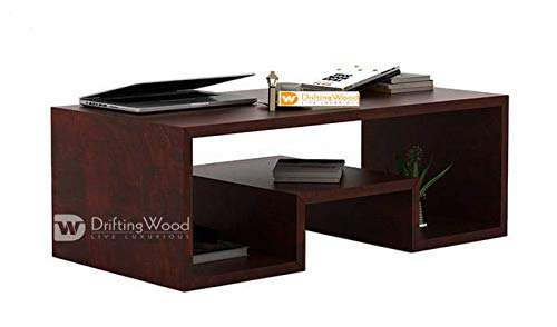 DriftingWood Sheesham Wood Liddle Coffee Table for Living Room | Center Table | Mahogany Finish