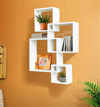 Load image into Gallery viewer, DriftingWood Wooden Intersecting Wall Shelves/Shelf For Living Room | Set of 4 | White