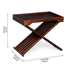 Load image into Gallery viewer, DriftingWood Sheesham Wood Folding Bed Breakfast Tray Table | Bed Coffee Table | Mahogany Finish