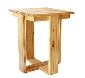 DriftingWood Pine Wood Bed Side End Table for Living Room | Side Table for Home | Natural Finish