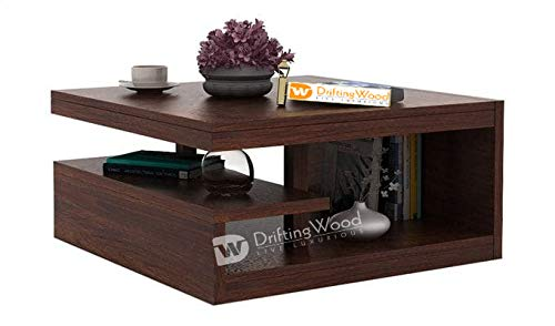 DriftingWood Sheesham Wood Liddle Coffee Center Table for Living Room | Walnut Finish