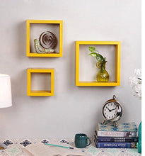 Load image into Gallery viewer, Driftingwood Nesting Square Shelf Set of 3 Shelves - Yellow