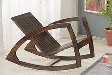 Load image into Gallery viewer, Driftingwood Wooden Styllish Rocking Chair for Living Room Without Cushions - Walnut Brown