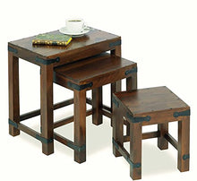 Load image into Gallery viewer, Driftingwood Nesting Tables Set of 3 Stools - Walnut Finish, Brown