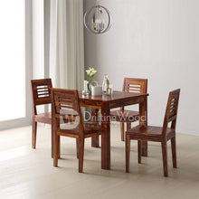 Load image into Gallery viewer, DriftingWood Dining Table 4 Seater | Four Seater Dinning Table with Chairs | Dining Room Sets | Sheesham Wood, Teak Finish