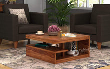 Load image into Gallery viewer, DriftingWood Sheesham Wood Liddle Coffee Center Table for Living Room | Natural Brown