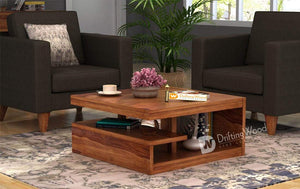 DriftingWood Sheesham Wood Liddle Coffee Center Table for Living Room | Natural Brown