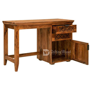 DriftingWood Sheesham Wood Writing Study Table for Home and Office with Chair | Study Desk