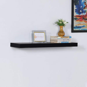 Driftingwood Wall Shelf Rack Floating 30 inches Wall Shelf - Black