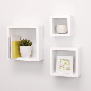Driftingwood Nesting Square Shelf Set of 3 Shelves - White