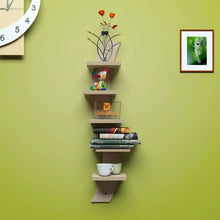 Load image into Gallery viewer, Driftingwood Snack Shape 5 Tier Floating Wall Shelf Unit | Douglas Pine Finish