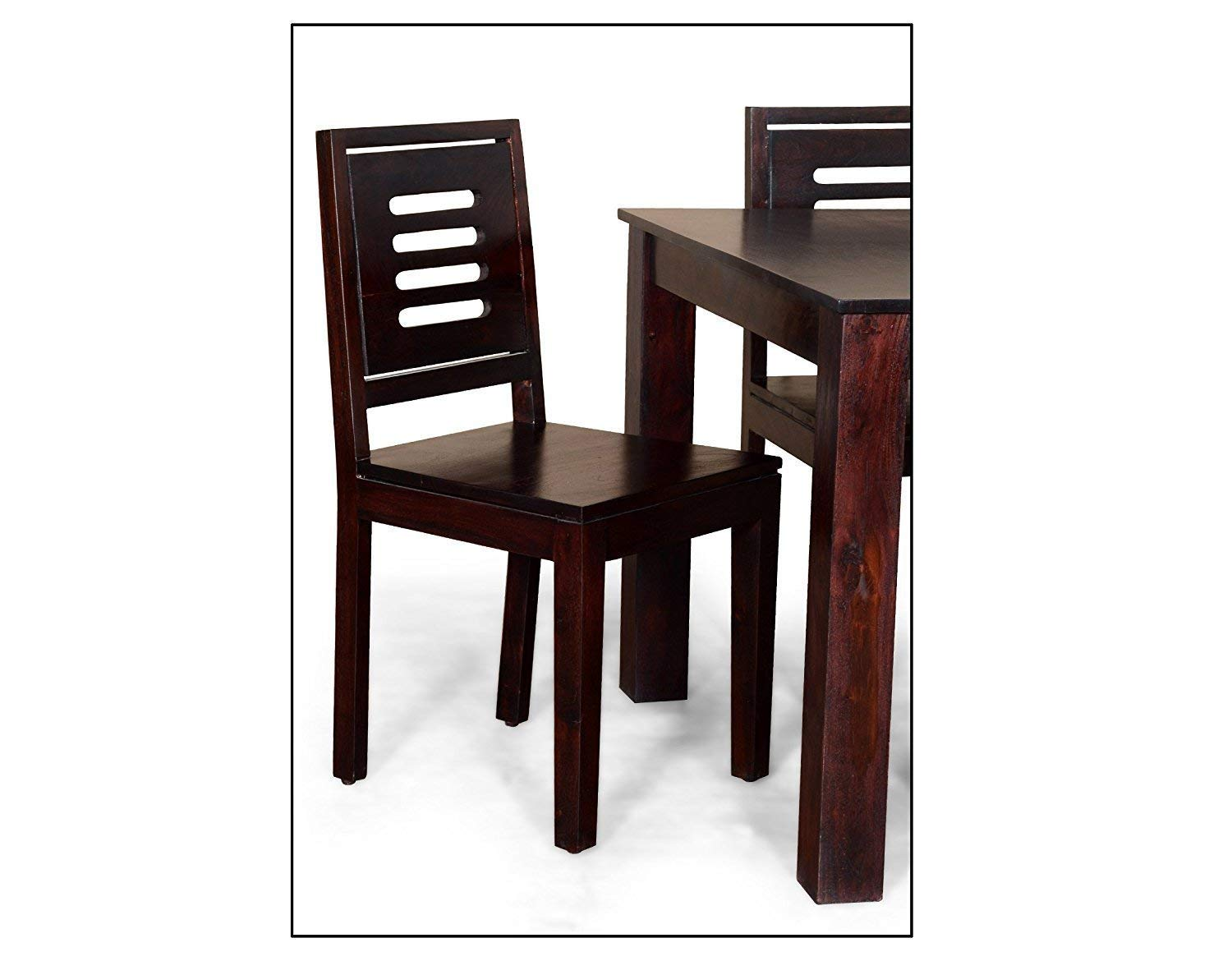 4c228ab170f DriftingWood Sheesham Wood Dining Table Set with 4 Chairs for Living Room