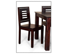 Load image into Gallery viewer, DriftingWood Sheesham Wood Dining Table Set with 4 Chairs for Living Room | 4 Seater Dining Table Set | Walnut Finish
